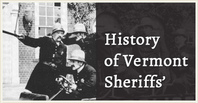 vermont sheriff deptartment hostories